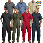 Dickies Men's Short Sleeve Coveralls Elastic Waist Work Wear Uniform