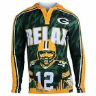 Klew Men's NFL Green Bay Packers 2015 Aaron Rodgers #12 Player Hoodie Tee on eBay