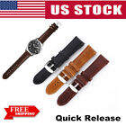 Quick Release Classic Mens Leather Watch Band Wrist Strap For Fossil Watch US image