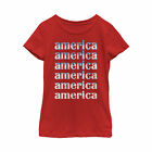 Lost Gods Fourth of July America Repeat Girls Graphic T Shirt
