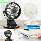 Rechargeable Battery Operated Clip On Mini Desk Fan Stroller Fan with USB