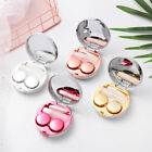 Cute Marble Stripe Contact Lens Case Travel Practical Eyes Care Kit Container HQ