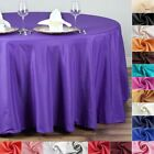 "15 pcs Wholesale Lot 132"" ROUND POLYESTER TABLECLOTHS Wedding Reception Supply"