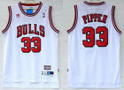 Chicago Bulls #33 Scottie Pippen Basketball Mesh jersey White Size: S - XXL on eBay