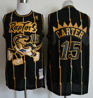 Toronto Raptors #15 Vince Carter Basketball Retro Mesh jersey Black Size: S-XXL on eBay