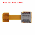 Hybrid Double Dual SIM Card Micro SD Adapter for Android Phone Extender Nano Mic