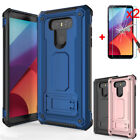 For LG G6 Shockproof Hybrid Armor Case Kickstand Phone Cover+Tempered Glass Film for sale  USA