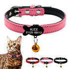 Soft Suede Personalized Dog Cat Collar Leather Padded with Slide On Tag Engraved