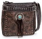 BANDANA BY AMERICAN WEST Embossed Faux-Leather Western Shoulder Bag image