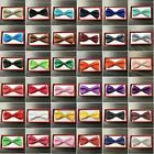 50+ Colors Clip on Adjustable Wedding Bow Tie for Toddler Baby Kids Boys Girls