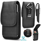 Vertical Oxford Phone Holster Pouch Case with Belt Clip Loop for iphone Samsung