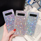 F Samsung Galaxy S20 S10 Plus/S10e/Note 10 Phone Case Bling Glitter Rubber Cover
