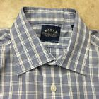 new mens Eagle shirtmakers stretch collar regular fit non iron blue plaid 05-19, used for sale  Shorewood