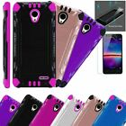 For Wiko Ride Phone Case +TEMPERED GLASS/Brushed Cover Combat