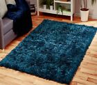 SMALL LARGE DARK NAVY CLASSIC BLUE GLITTER SPARKLE DAZZLE SOFT PILE SHAGGY RUG