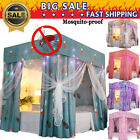 Mosquitoproof Lightproof 4 Corner Bed Curtain Canopy +Mosquito Net+ Frame Post image