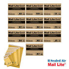 Gold Mail Lite Bubble Wrap Lined Padded Postage Mailing Envelopes Bags Brown