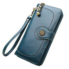 Women Leather Wallet Large Capacity Clutch Purse Card Phone Holder Zip Handbag