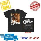 New Tour Dates 2019 Eric Clapton T-Shirt All Size 2 Side Men Shirt Black