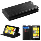 For Nokia Lumia 520 Slim Wallet Book Style Case Cover Card Holder