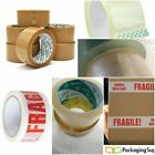 STRONG BROWN/ CLEAR/ FRAGILE PARCEL PACKAGING TAPE SELLOTAPE CARTON SEALING