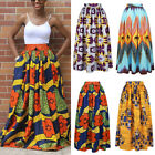 Womens African Print High Waist Party Vintage Ethnic Style Maxi Long Skirt Dress
