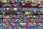 M&M'S® LICENSED CHOCOLATE CANDY OOP RARE CRAFT QUILTING COTTON FABRIC  1/2 YARD