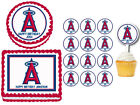 Los Angeles Angels Edible Birthday Party Cake Topper Plastic Cupcake Picks on Ebay