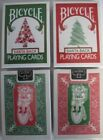 Bicycle Red 225  Green 245 Santa Maiden Back Playing Cards Christmas Tree