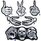 Skull Skeleton Fuuk You Funny Biker Heavy Metal Tattoo Style Patch Iron Costume $4.99 USD on eBay
