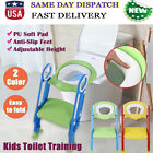 Toddlers Child Potty Toilet Trainer Seat w/ Step Stool Ladder Training Chairs US image