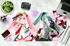 3D Pink Peach Twin Sisters O26 Japan Anime Non-slip Office Desk Keyboard Pad Amy