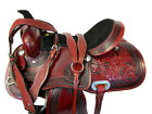 BLING COWGIRL WESTERN ROPING PLEASURE TRAIL SADDLE TOOLED LEATHER HORSE 16 17