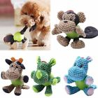 Puppy Plush Corduroy Chew Toy Pet Dog Teething Aid Rubber Bite Training Play Toy