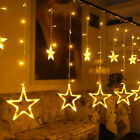 Warm White Colorful LED Curtain Fairy Sting Lights Party Room Window Celebration