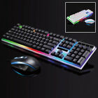 Keyboard Mouse Combo For PS4/PS3 Xbox One Gaming Rainbow LED Keyboard Mice Lot