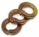 Kyпить Yellow Zinc Grade 8 Steel Lock Washers Medium Split Ring - Sizes 1/4