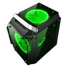 3 Colors LED Fans Coolman Gorilla Glass ATX Mid Tower Gaming Computer PC Case