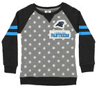 OuterStuff NFL Youth Girls Team Logo Polka Dot Print Crew, Carolina Panthers $17.5 USD on eBay