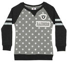 OuterStuff NFL Youth Girls Team Logo Polka Dot Print Crew, Oakland Raiders $17.5 USD on eBay