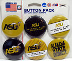 """NCAA 2"""" College University Pin Back Button 6-Pack  WinCraft"""