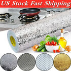 Us♡ Waterproof Oil-proof Aluminum Foil Stickers 100cm Adhesive Wallpaper Kitchen