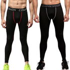 Mens Skinny Leggings Compression Jogging Running Pants Sports Trainers Pants US