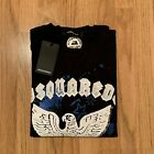Men's DSQUARED2 Sweatshirt, Eagle, Pullover in Black & White, See Sizes