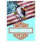 Harley Davidson Metal Sign Garage Tin wall sign Man Cave Motorcycle Motorbike £4.99 GBP on eBay