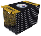 NFL Pittsburgh Steelers Quilted Pet Crate / Cage Cover in Sizes Large or X-Large