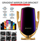 Wireless Car Charger Holder Qi Fast Charging Infrared Sensor Automatic Clamping,