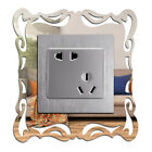 4pcs Silver Mirror Pattern Light Switch Surround Wall Sticker Cover Home Decor