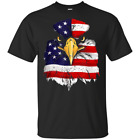 Bald Eagle American Flag 4th of July Patriotic Freedom USA T-Shirt image