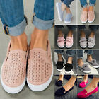 Women's Low Flats Dolly Loafers Bow Slip On Trainers Plimsolls Pumps Shoes Sizes